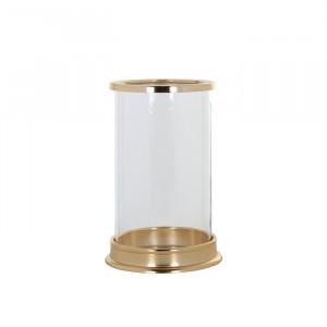 Suport lumanare transparent/auriu din sticla si aluminiu 24 cm Addison Richmond Interiors