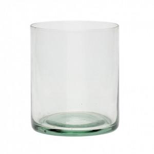 Suport lumanare verde din sticla 10 cm Alessa Hubsch