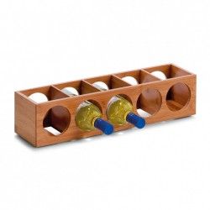 Suport maro din lemn de bambus pentru sticle de vin BamWine Zeller