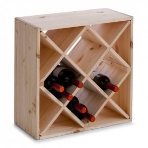 Suport maro din lemn de pin pentru sticle de vin Wood Rack Zeller