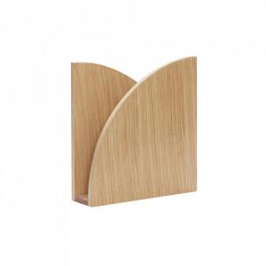 Suport maro din lemn pentru reviste Magazine Basket Hubsch