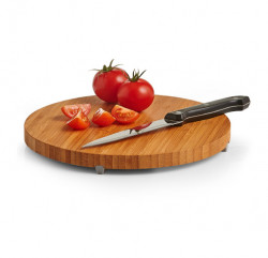 Suport maro/gri din lemn si plastic pentru vase fierbinti Trivet Round Zeller