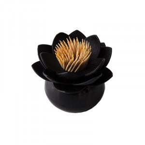 Suport negru din plastic pentru scobitori Lotus