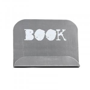 Suport pentru carte de bucate gri antic din metal Alana Book LABEL51