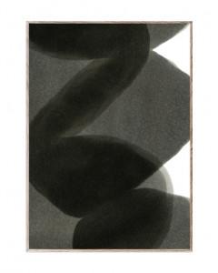 Tablou cu rama din lemn de stejar Black II Paper Collective