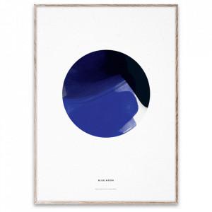 Tablou cu rama din lemn de stejar Blue Moon Paper Collective