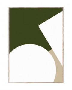 Tablou cu rama din lemn de stejar Simple Forms III Paper Collective