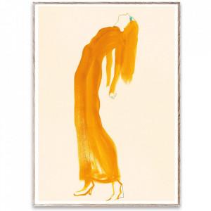 Tablou cu rama din lemn de stejar The Saffron Dress Paper Collective