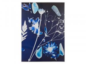 Tablou din lemn din arbore de cauciuc 100x140 cm Night Flowers Santiago Pons