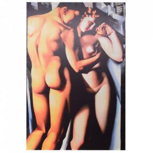 Tablou multicolor din canvas si lemn 100x150 cm Nude Ixia