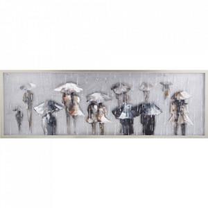 Tablou multicolor din canvas si lemn 50x150 cm Rain Ter Halle