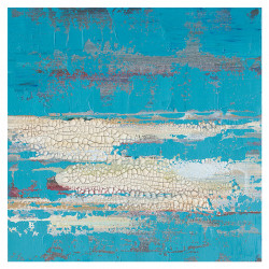 Tablou multicolor din canvas si lemn 60x60 cm Wall Ter Halle