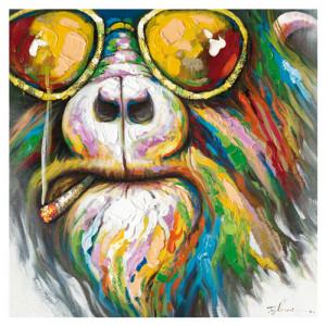 Tablou multicolor din canvas si lemn 90x90 cm Iggy Ter Halle