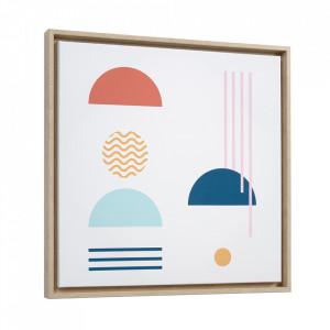 Tablou multicolor din canvas si MDF 50x50 cm Gelsina Kave Home