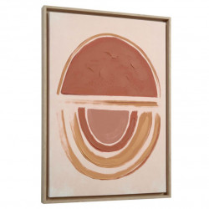 Tablou multicolor din canvas si MDF 50x70 cm Gara Salmon Kave Home