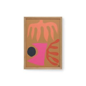 Tablou multicolor din lemn si sticla 39x53 cm Marcello Velho HK Living