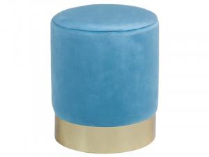 Taburet din lemn de pin 30 cm Vikia Blue Santiago Pons