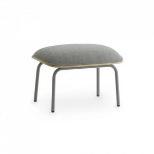 Taburet pentru picioare dreptunghiular gri din textil si otel 45x60 cm Pad Normann Copenhagen