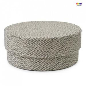 Taburet rotund din textil 90 cm Silo Piazza Grey Normann Copenhagen