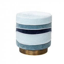 Taburet rotund multicolor din catifea si metal 40 cm Gina Blue Lifestyle Home Collection