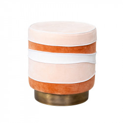 Taburet rotund multicolor din catifea si metal 40 cm Gina Lifestyle Home Collection