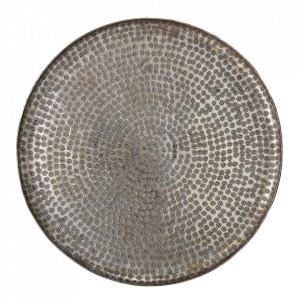 Tava decorativa gri din aluminiu 50 cm Ayra Bloomingville