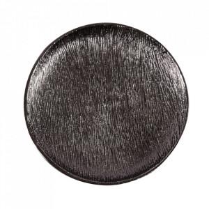 Tava decorativa rotunda neagra din aluminiu 33 cm Docas Zago