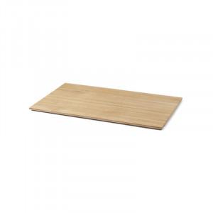 Tava dreptunghiulara maro din lemn pentru ghiveci 35x57,5 cm Lara Ferm Living
