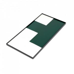 Tava dreptunghiulara verde/alba din lemn 30x60 cm Geometry Serax