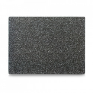 Tocator dreptunghiular gri antracit din sticla 30x40 cm Granite Zeller