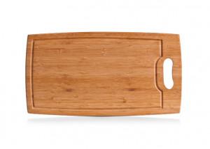 Tocator dreptunghiular maro din lemn 24,5x45 cm Natural Bamboo Board Zeller