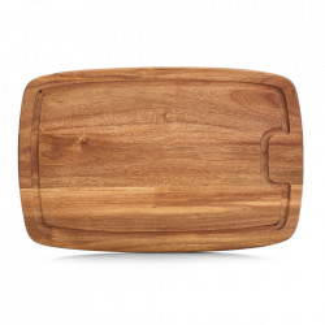 Tocator dreptunghiular maro din lemn 26x40 cm Juice Groove Zeller