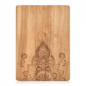 Tocator dreptunghiular maro din lemn 29x40 cm Oriental Floral Zeller