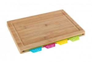 Tocator dreptunghiular multicolor din lemn si polipropilena 22,5x32,5 cm Bella Cutting Mats Wenko
