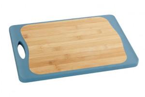 Tocator dreptunghiular multicolor din polipropilena si lemn 28x39,5 cm Kombi Board Maxi Wenko