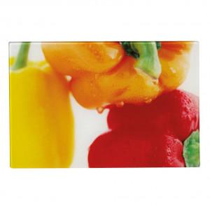 Tocator dreptunghiular multicolor din sticla 30x40 cm Paprika Zeller