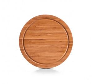 Tocator rotund maro din lemn 25 cm Round Cutting Board Mini Zeller