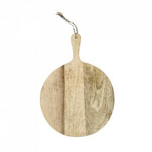 Tocator rotund maro din lemn de mango 30 cm Gio Madam Stoltz