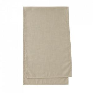 Traversa masa bej din textil 50x160 cm Samatay La Forma