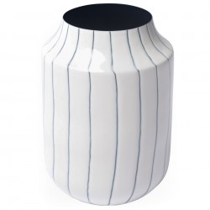 Vaza alb/negru din metal 20 cm Fynn Zago