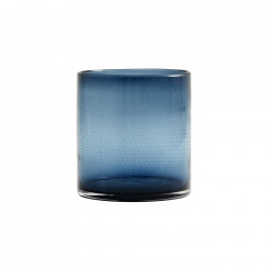 Vaza albastra din sticla 16 cm Bubble Large Nordal