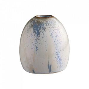 Vaza albastra/verde din ceramica 9 cm Ovali Bolia