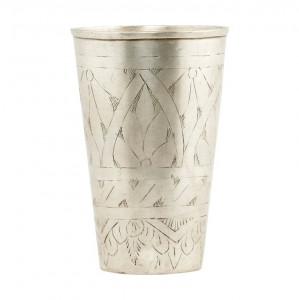 Vaza argintie din alama 12 cm Lassi House Doctor