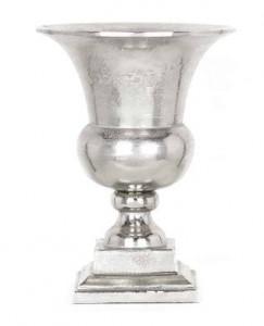 Vaza argintie din aluminiu 37 cm Grazia Richmond Interiors