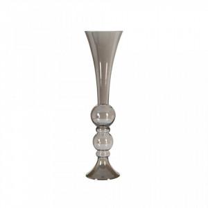 Vaza argintie din sticla 71 cm Crystal Silver Santiago Pons