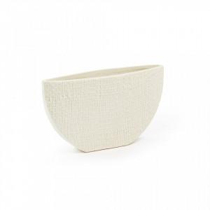 Vaza crem din ceramica 26x14 cm Cracco La Forma