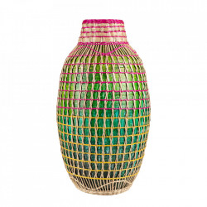 Vaza decorativa multicolora din bambus 41 cm Linda Versmissen