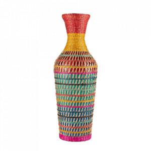 Vaza decorativa multicolora din bambus 61 cm Claire Versmissen