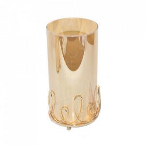 Vaza galbena din sticla 24 cm Candelabra Santiago Pons