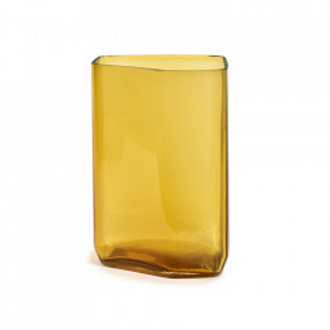 Vaza galbena din sticla 33 cm Silex Serax